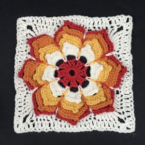 Sunshine flower blanket - tiger lily block