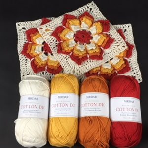 Sunshine flower blanket - tiger lily square by Tracey Lord