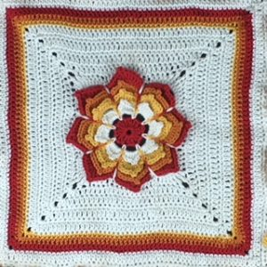 sunshine flower blanket central block