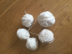 recycled yarn from yarn salvage project