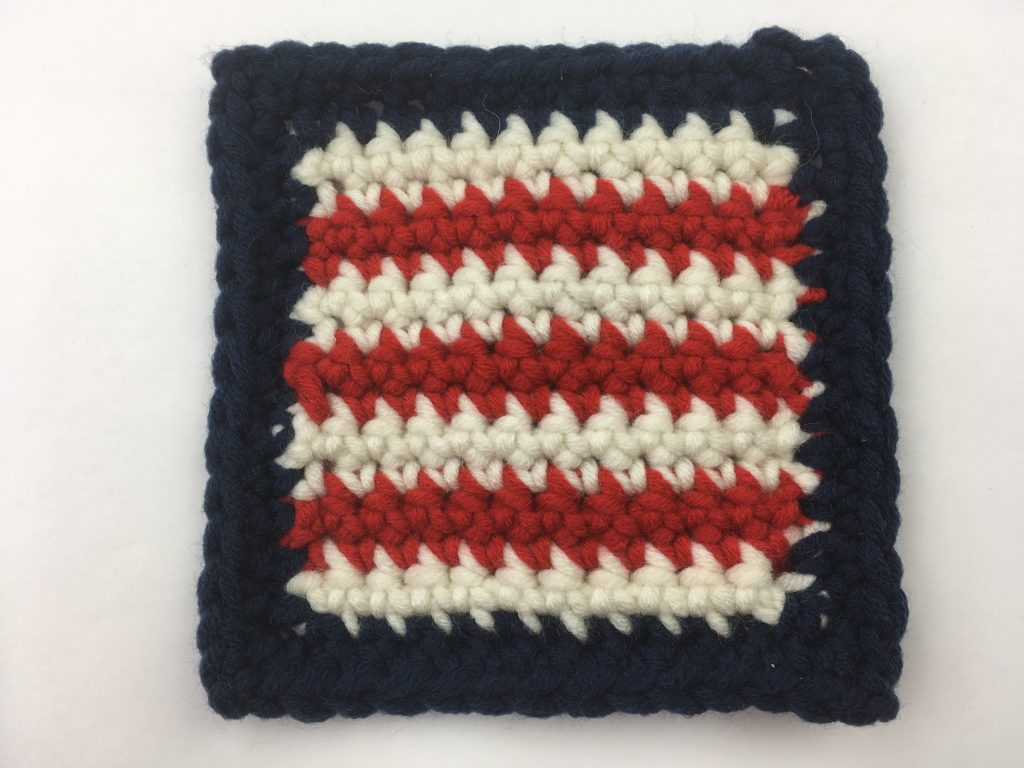 Striped Block - crochet