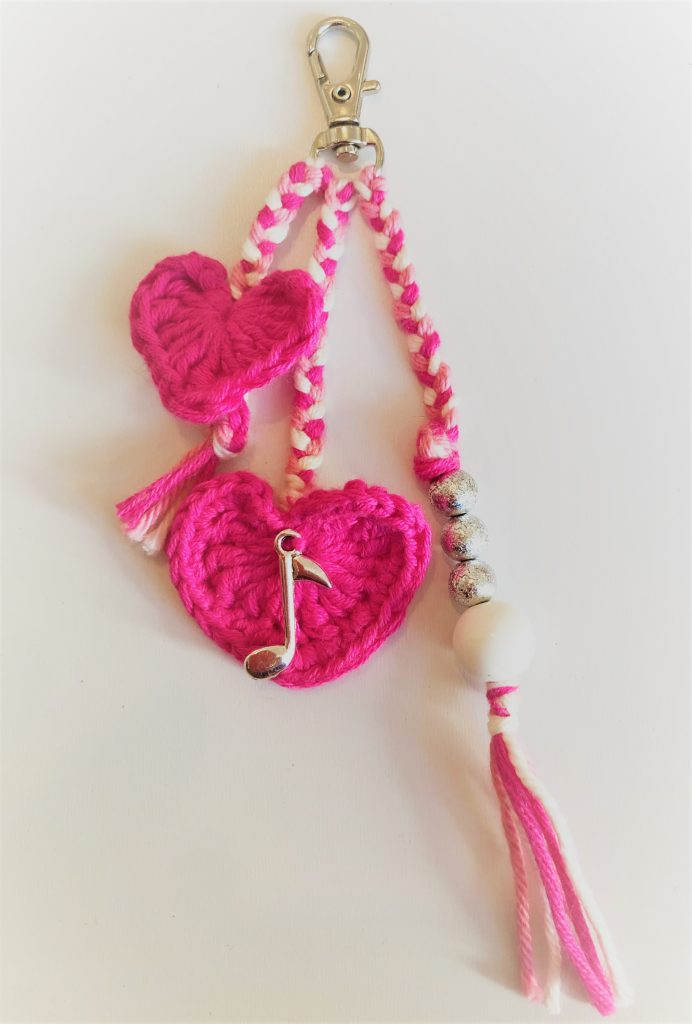 Crochet Heart charm - quick make