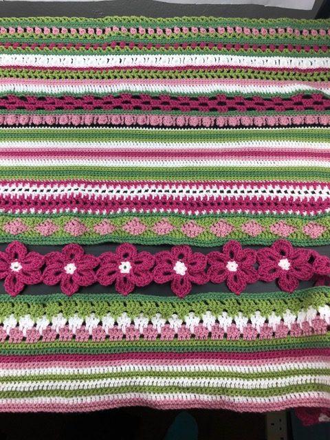 Design your own crochet sampler blanket.