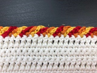 crochet rope edging