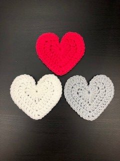 three hearts  - new large heart pattern