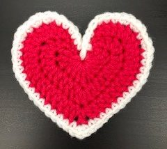 crochet blog January update - New Large Heart - edging