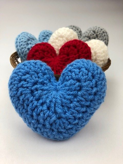 basket of little hearts