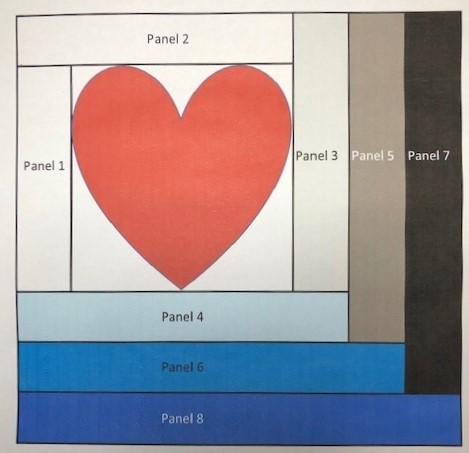 log cabin love block diagram