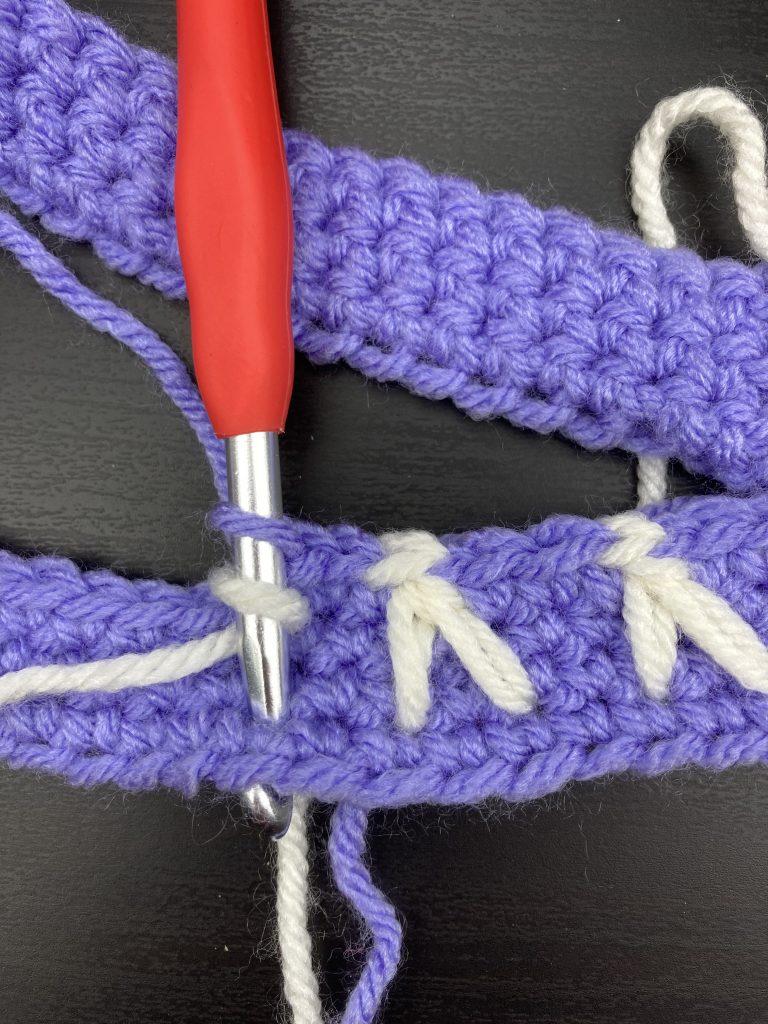 crochet bunny stitch step 1
