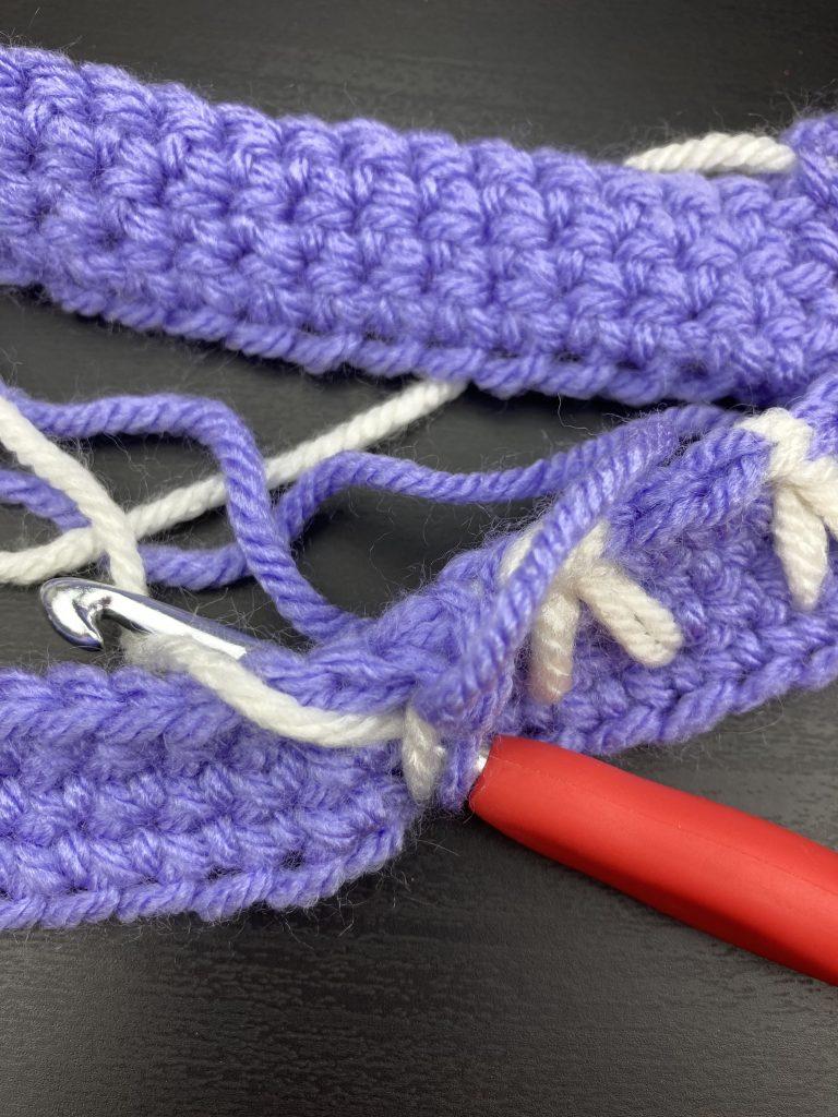 crochet bunny stitch step 2