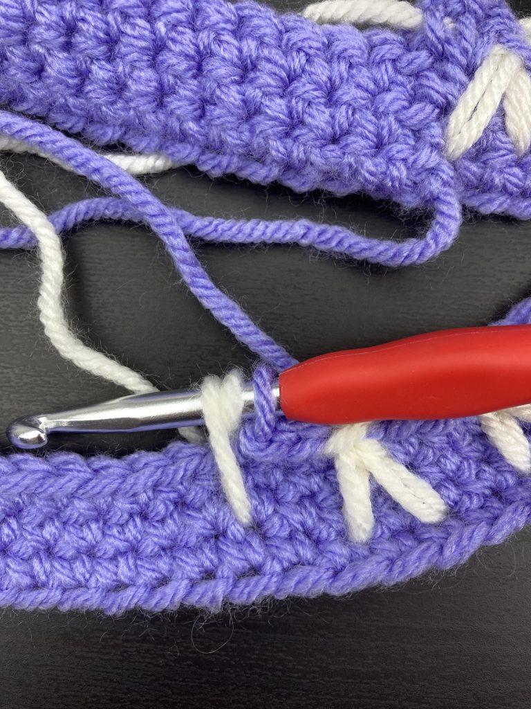 crochet bunny stitch step 3