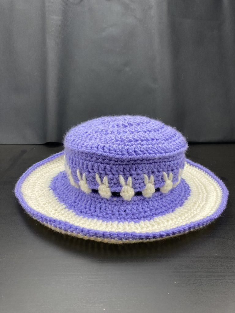 crochet bunny stitch sunhat