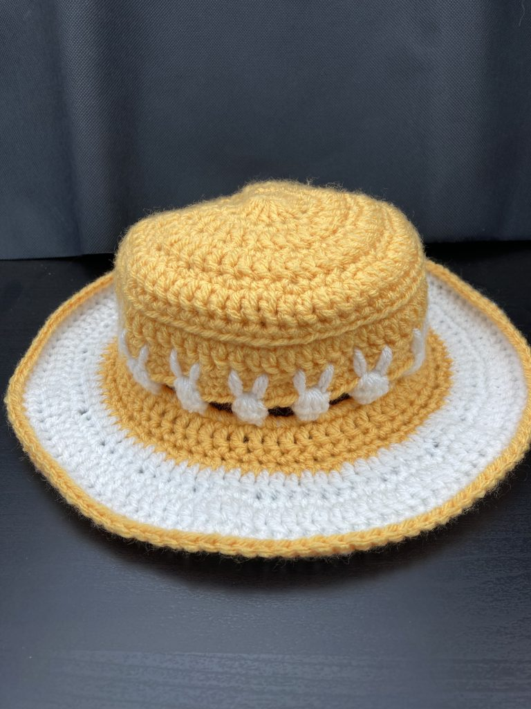 crochet bunny sunhat - child size